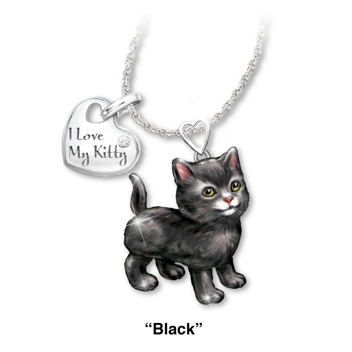 I Love My Kitten Cat Pendant Necklace