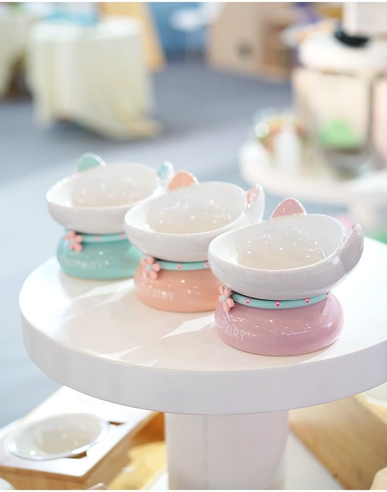 Pet Cat Ceramic Cat Food Bowl