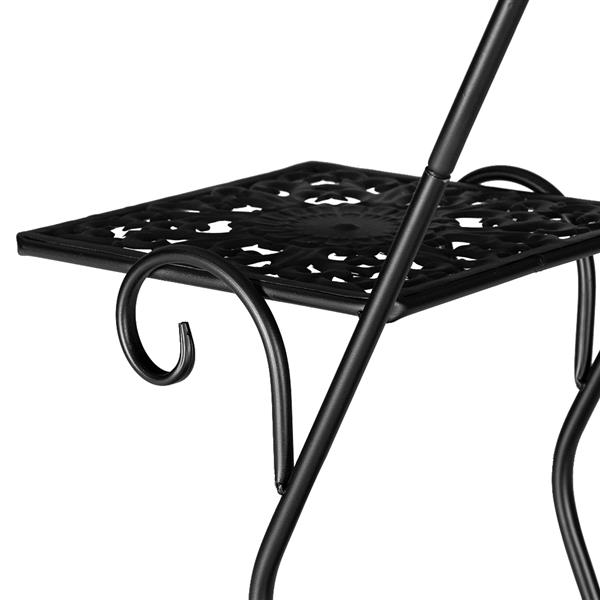 Pentagon 3 Layers 5 Seats Potted Plant Stand With Pattern Layout Artisasset One Black Paint 30.3 Inch High