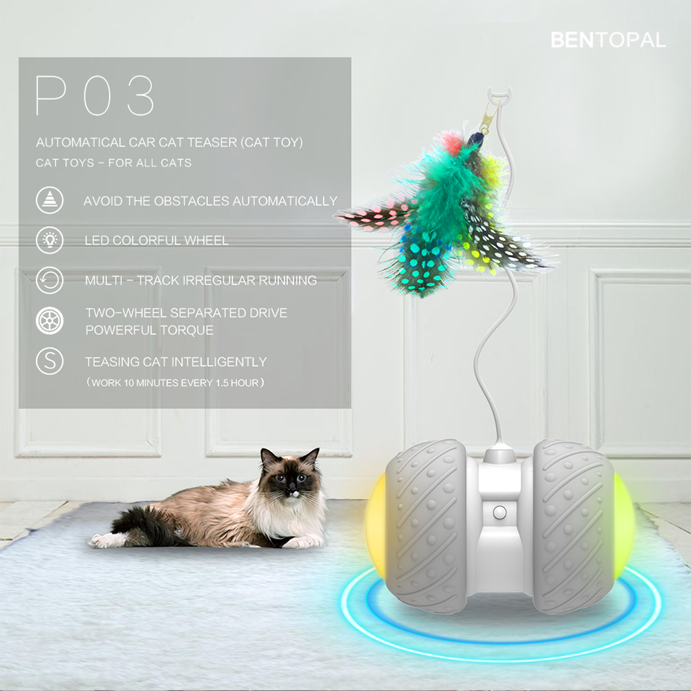 LED Rechargeable Electronic Pet Cat Toy Smart Automatic Cat Teaser