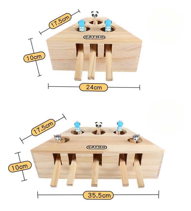 Wooden Pet Cat Toy Play Catch Toy Playing Exercise Toy