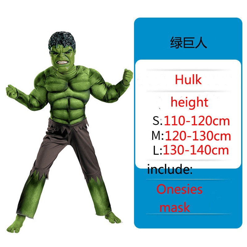 Kids-Christmas-Birthday-Gifts-Avengers-Hulk-Cosplay-Muscle-Costumes-including-Masks-Halloween-Children-Cosplay-Costumes