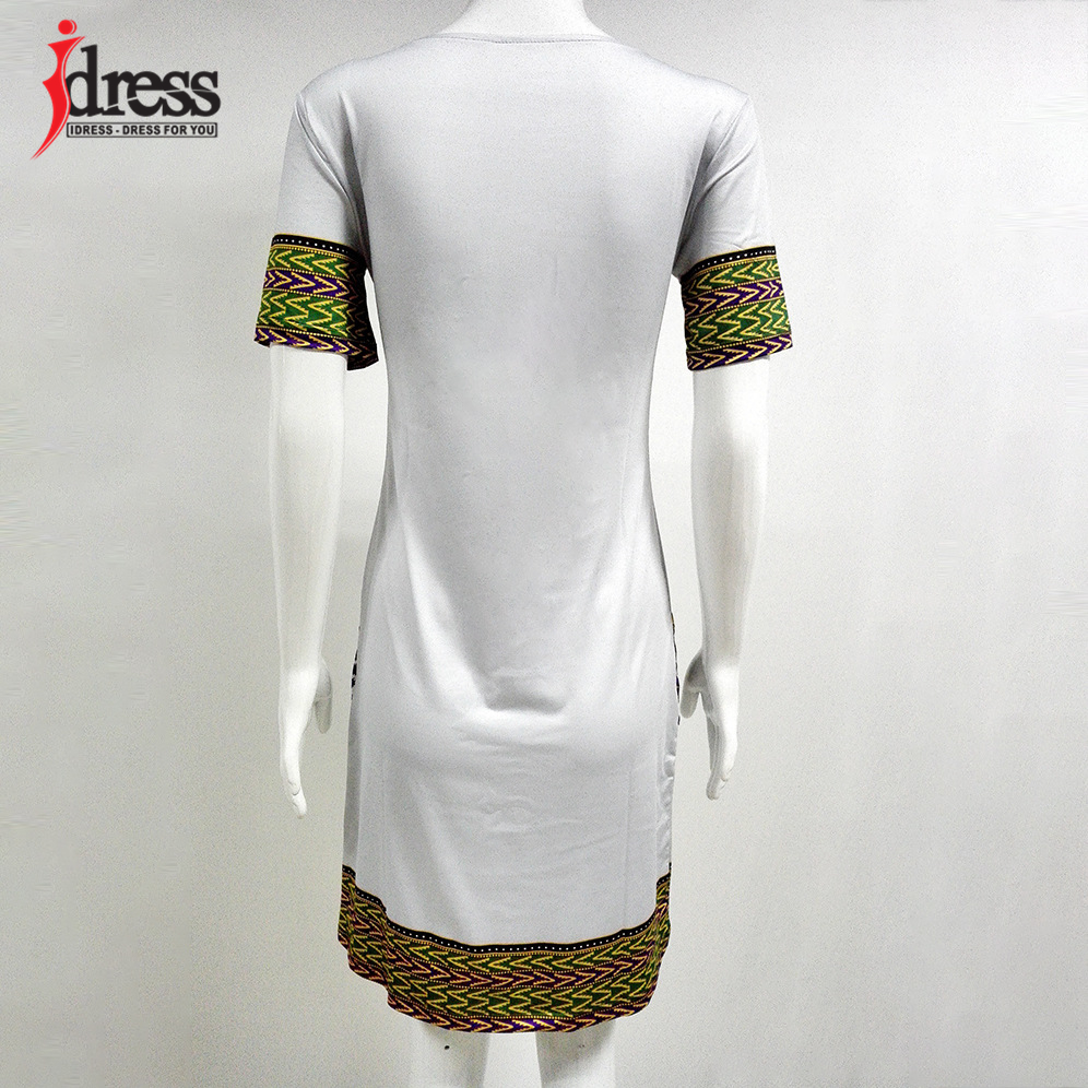 IDress S-XXXL Plus Size Sexy Casual Summer Dress Women Short Sleeve Party Dresses 2017 Black Vintage Traditional Printed Dresses (7)