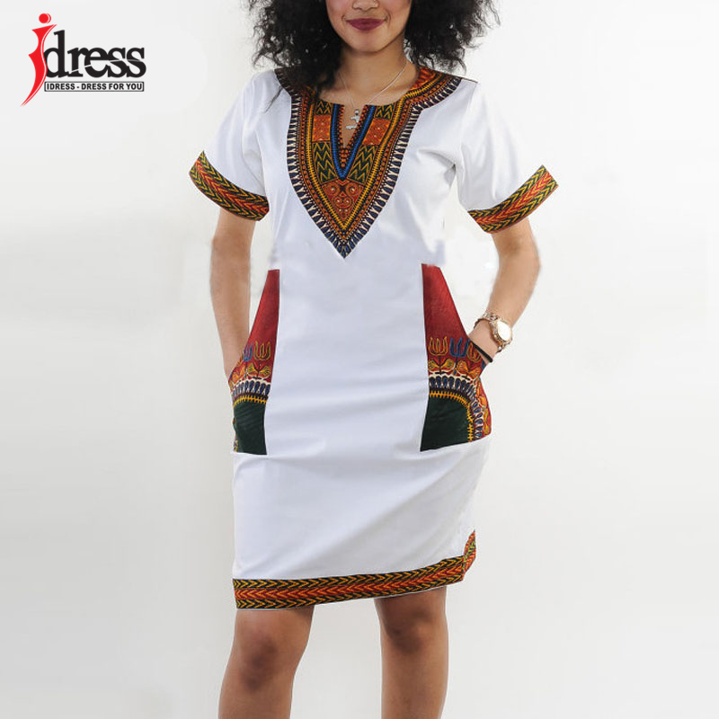 IDress S-XXXL Plus Size Sexy Casual Summer Dress Women Short Sleeve Party Dresses 2017 Black Vintage Traditional Printed Dresses (4)