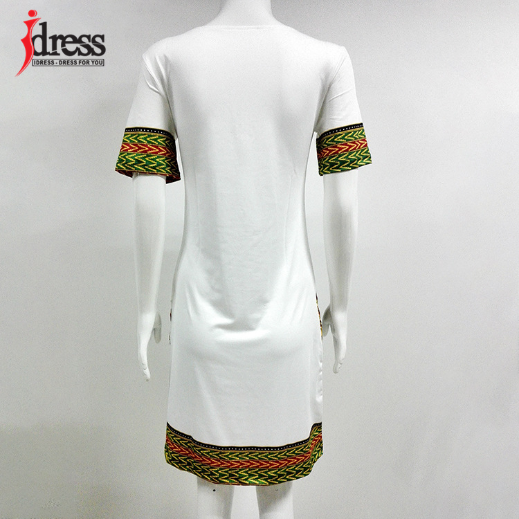 IDress S-XXXL Plus Size Sexy Casual Summer Dress Women Short Sleeve Party Dresses 2017 Black Vintage Traditional Printed Dresses (3)