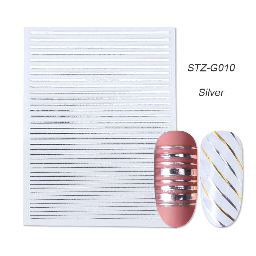 gold silver 3D stickers STZ-G010 Silver