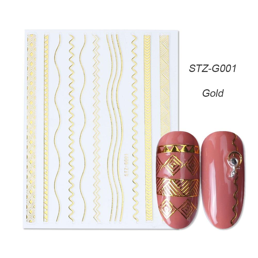 gold silver 3D stickers STZ-G001 gold
