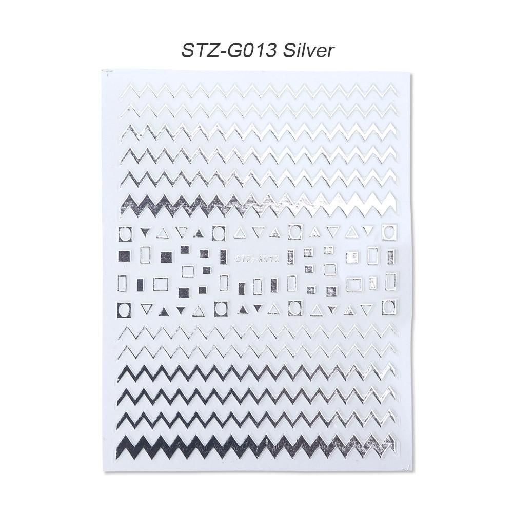 gold silver 3D stickers STZ-G013 Silver