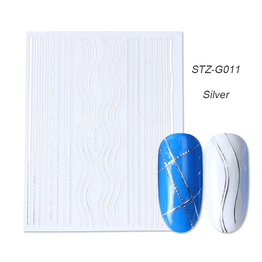 gold silver 3D stickers STZ-G011 Silver