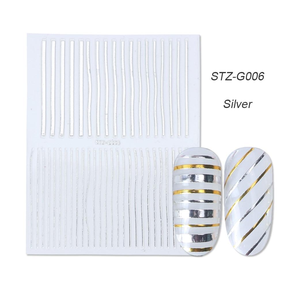 gold silver 3D stickers STZ-G006 Silver