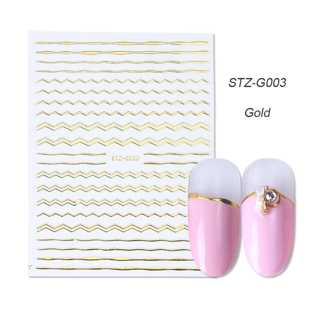 gold silver 3D stickers STZ-G003 gold