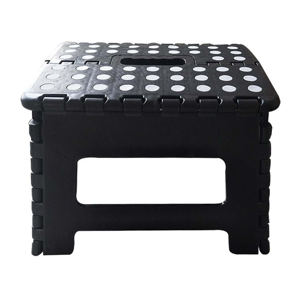 Foldable Step Stool Bench Plastic Adult Collapsible Foot Stool For Outdoor Rest