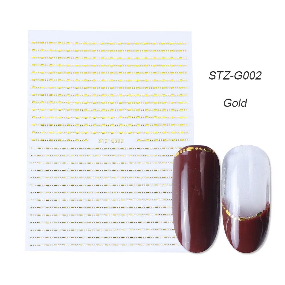 gold silver 3D stickers STZ-G002 gold