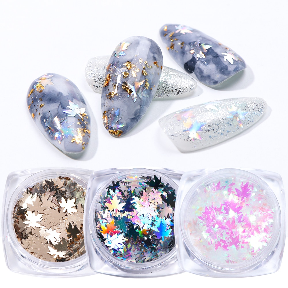 Silver Gold AB Color Nail Art Decorations