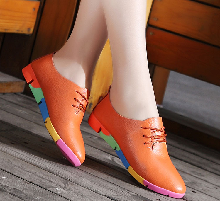2019 new breathable genuine leather flats shoes woman sneakers tenis feminino nurse peas flats shoes plus size women shoes stq1