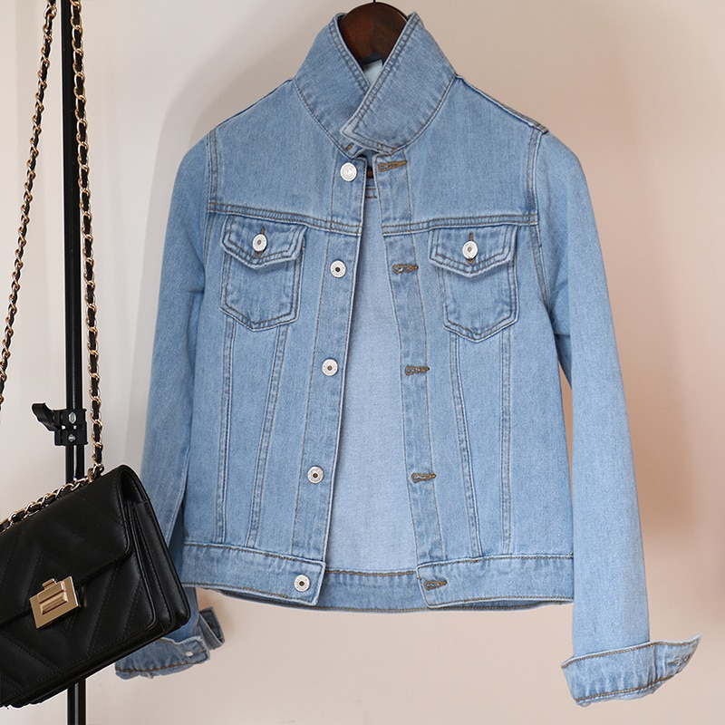 Jeans Jacket and Coats for Women 2019 Autumn Candy Color Casual Short Denim Jacket Chaqueta Mujer Casaco Jaqueta Feminina (10)