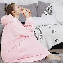 Winter-Hoodie-Women-Hooded-Blanket-Sweatshirt-Fleece-Plush-Hoodie-Warm-Coral-Fleece-TV-Blanket-with-Sleeve