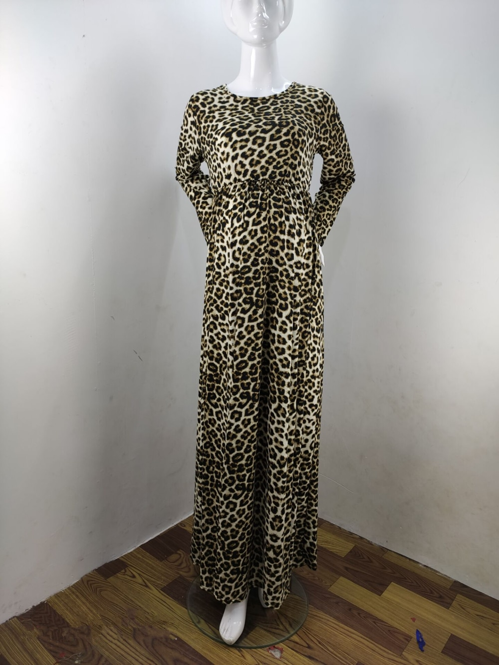 Fashion Maternity Dresses Photography Props Leopard Pregnancy Dress Long Sleeve Maternity Clothes For Pregnant Women Photo Shoot (8)