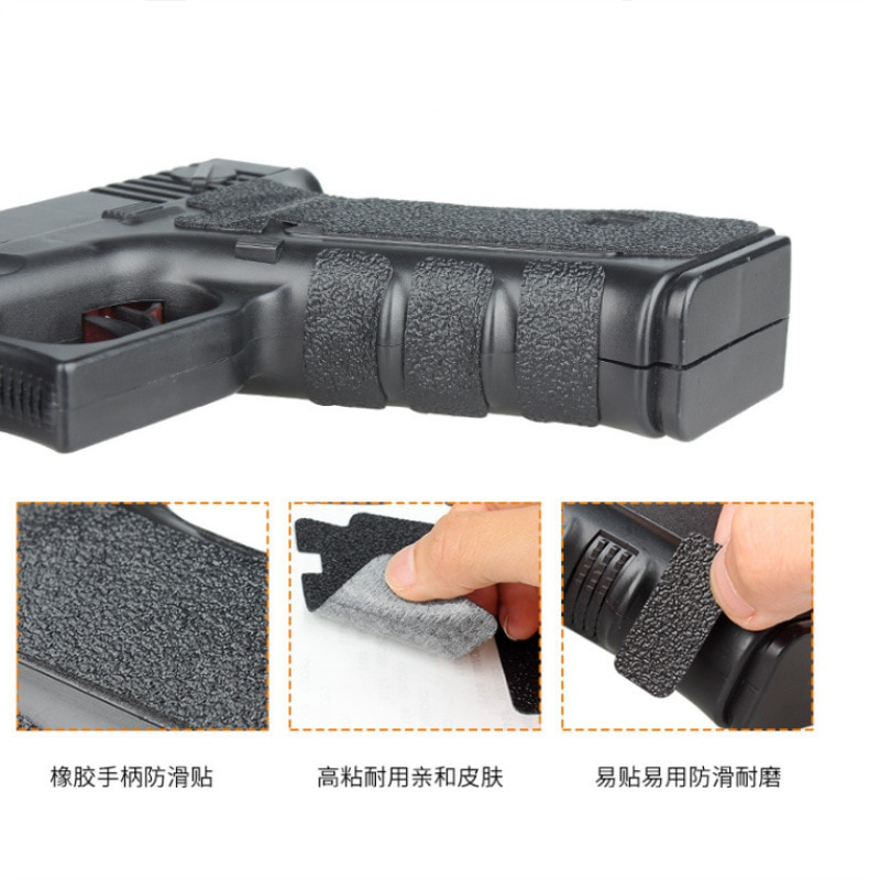 airsoft M4 tactical M4 gun AR 15 accessories rubber Grips Material Grip Wrap Tape Glove for Glock pistol for hunting (15)