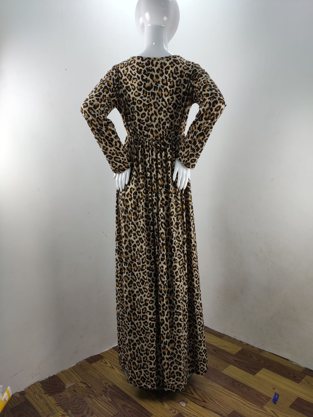 Fashion Maternity Dresses Photography Props Leopard Pregnancy Dress Long Sleeve Maternity Clothes For Pregnant Women Photo Shoot (7)