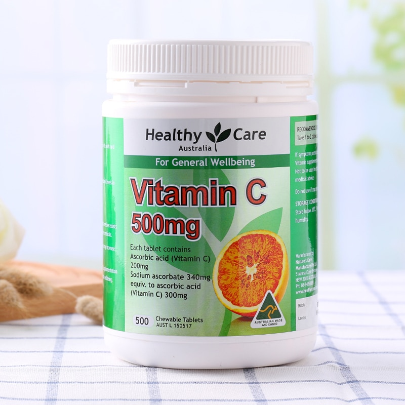 Healthy Care Vitamin C 500mg 500 Tablets  (8)