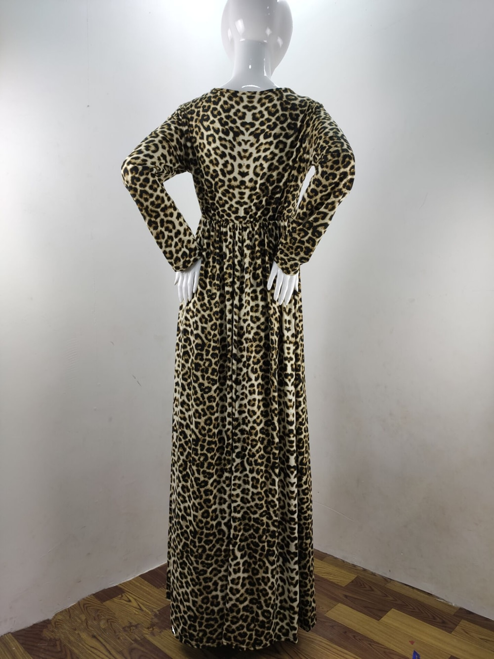 Fashion Maternity Dresses Photography Props Leopard Pregnancy Dress Long Sleeve Maternity Clothes For Pregnant Women Photo Shoot (10)