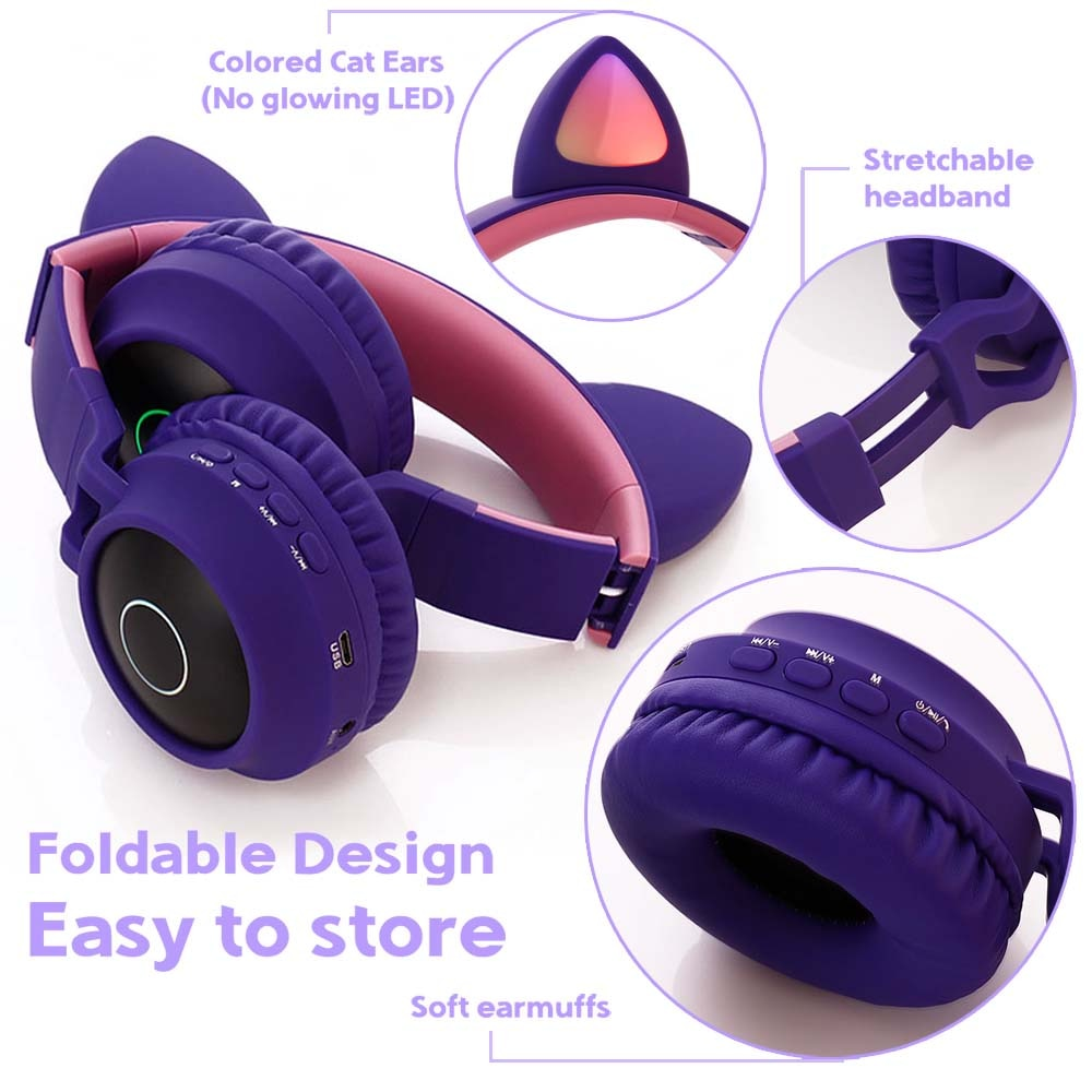 E0250-Cat Ear Headphone-6