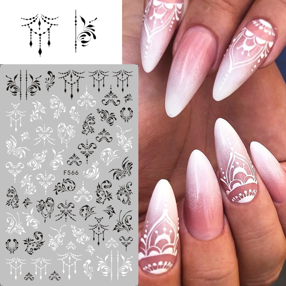 Nail 3d stickers