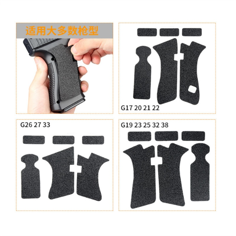 airsoft M4 tactical M4 gun AR 15 accessories rubber Grips Material Grip Wrap Tape Glove for Glock pistol for hunting (11)