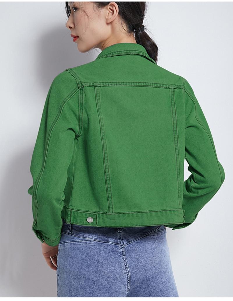 Jeans Jacket and Coats for Women 2019 Autumn Candy Color Casual Short Denim Jacket Chaqueta Mujer Casaco Jaqueta Feminina (7)
