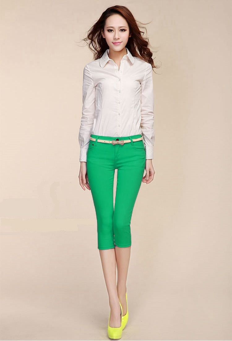 capris - green
