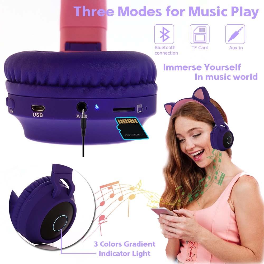 E0250-Cat Ear Headphone-3