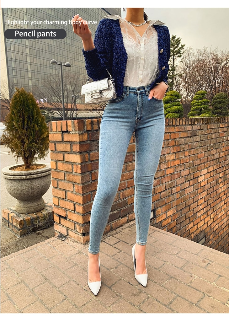 Women's Jeans High Waist Stretch Skinny Denim Pants JOMOBabe Official Online Store | Women Gym Clothes & Workout Wear | JOMOBabe