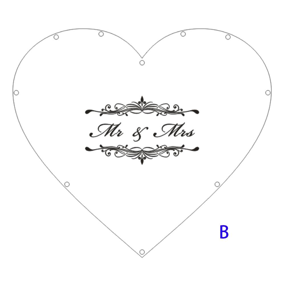 Hearts Unique Wedding Mr Mrs Guest Book Decoration Memory Guest Book Drop Box Signature Acrylic Guest Book Alternative (6)