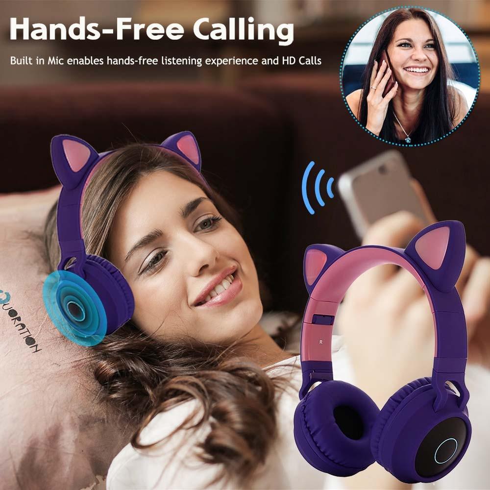 E0250-Cat Ear Headphone-2