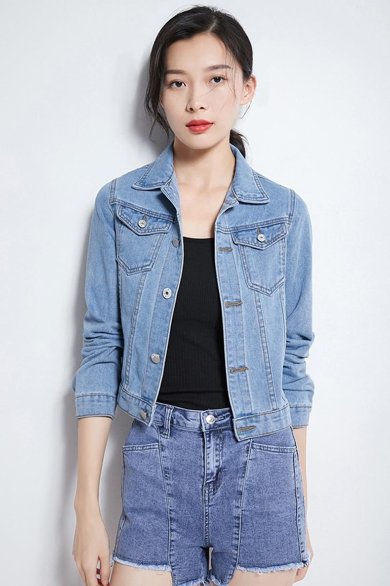 Jeans Jacket and Coats for Women 2019 Autumn Candy Color Casual Short Denim Jacket Chaqueta Mujer Casaco Jaqueta Feminina (2)