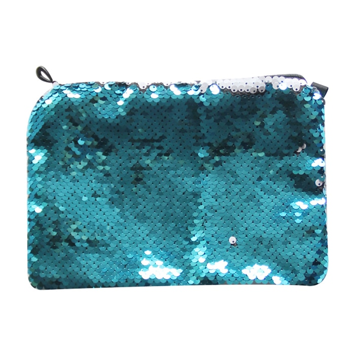亮片化妆包-湖蓝色1
