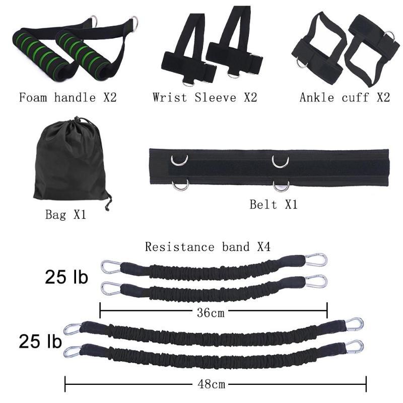 Resistance Bands Home Gym Stretching Strap Set Waist Leg