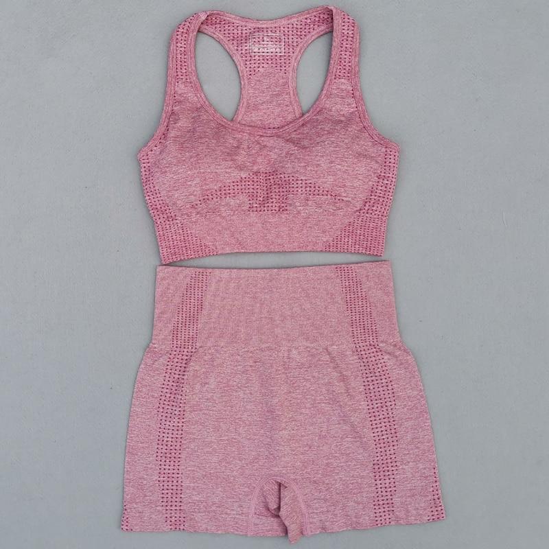 New-Summer-Seamless-Yoga-Sports-Suits-Women-Workout-Clothes-Sport-Bra-High-Waist-Fitness-Shorts-2