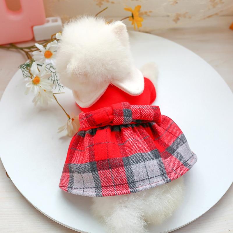 娃娃领呢子裙_7720