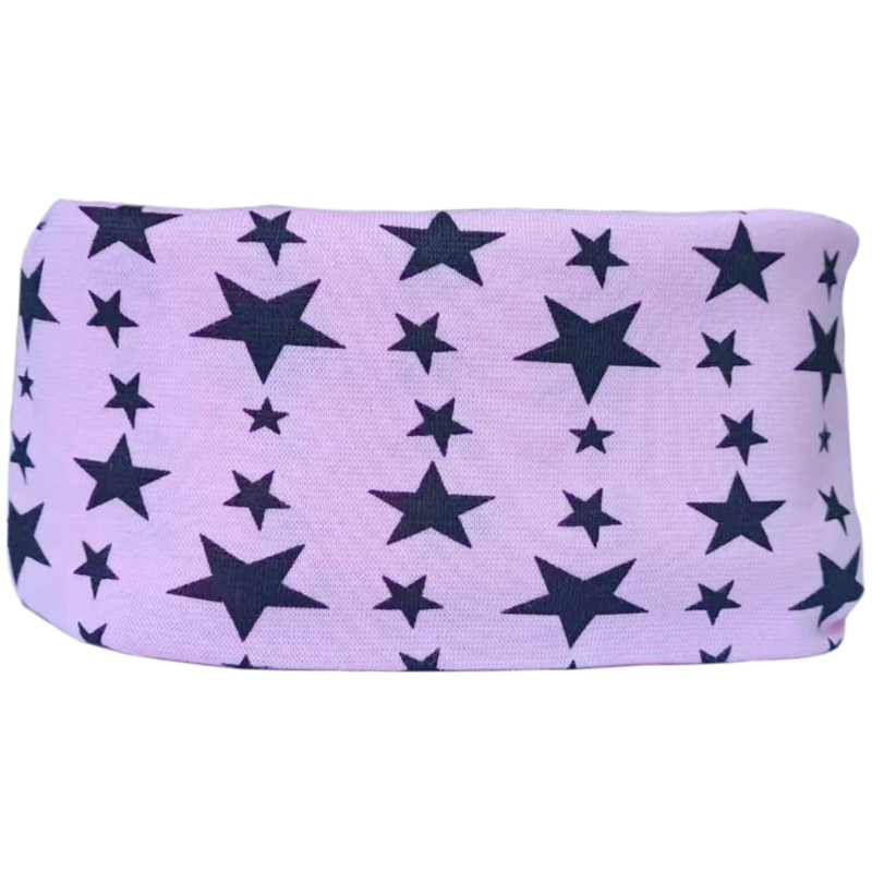 pink star baby scarf