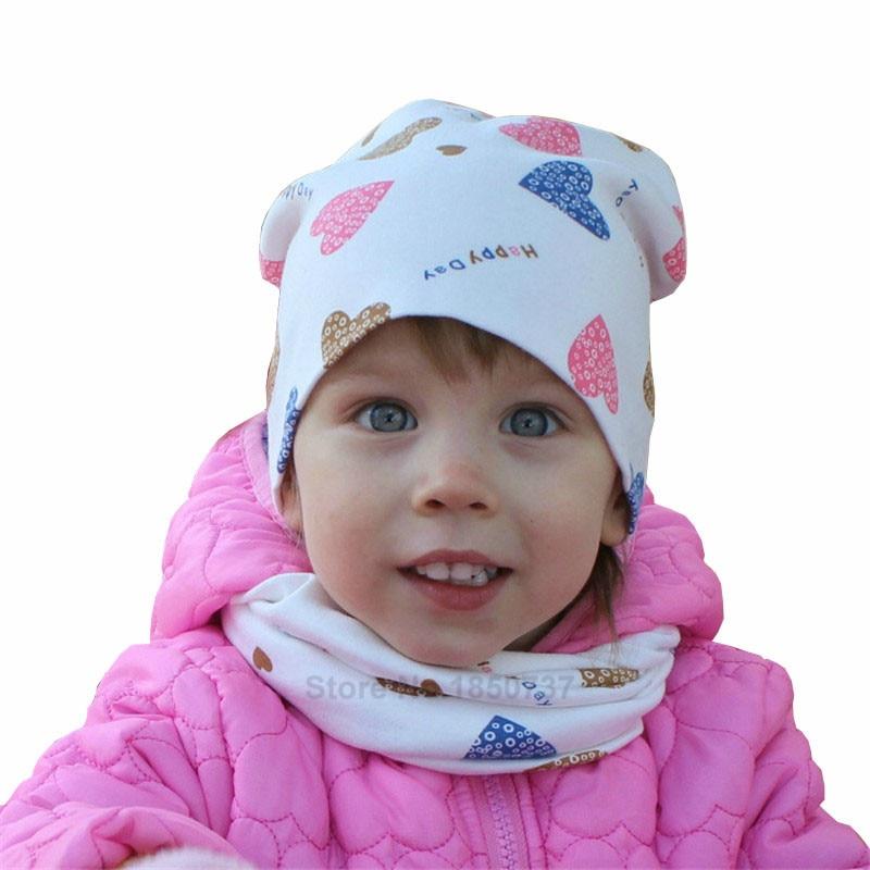 love heart baby hat cap scarf