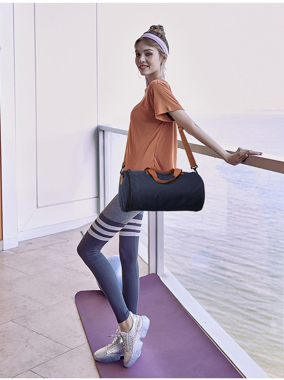 Outdoor Sports Gym Bag Multifunction Training Fitness Shoulder Bag With Shoes Pocket Travel Yoga Handbag Dry wet Swimming Bag0108