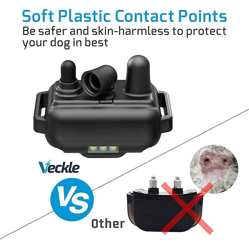 800m Electric Dog Training Collar with LCD Display Pet Remote Control Waterproof Rechargeable Collars for Shock Vibration Sound2