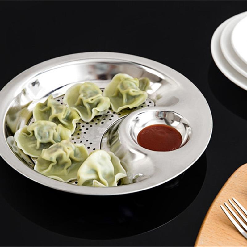 Stainless Steel Round Dumpling Dish (3)