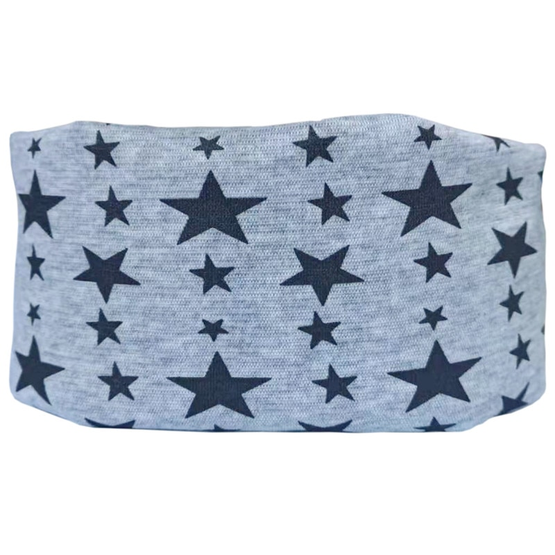 grey star baby scarf