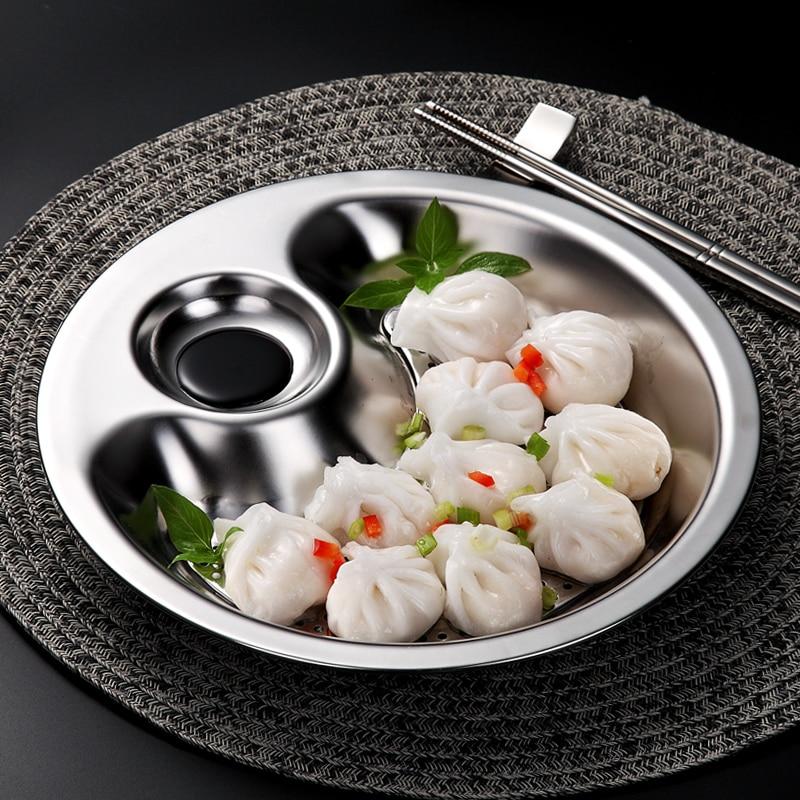 Stainless Steel Round Dumpling Dish (5)