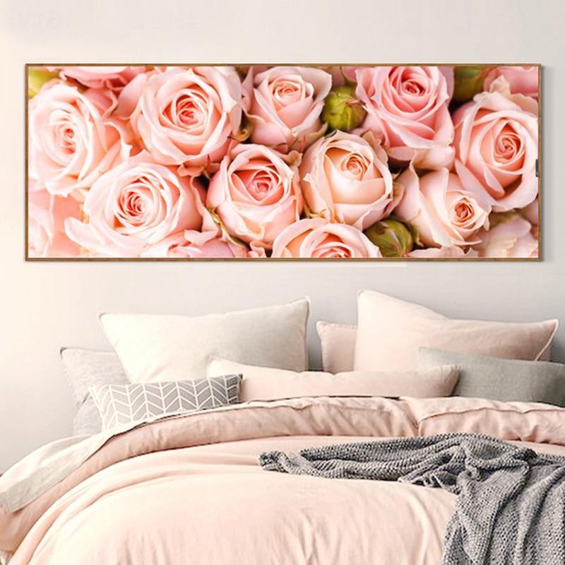 Diamond painting pink rose pattern decorative painting rhinestones hand-set, flowers, Diy diamond embroidery