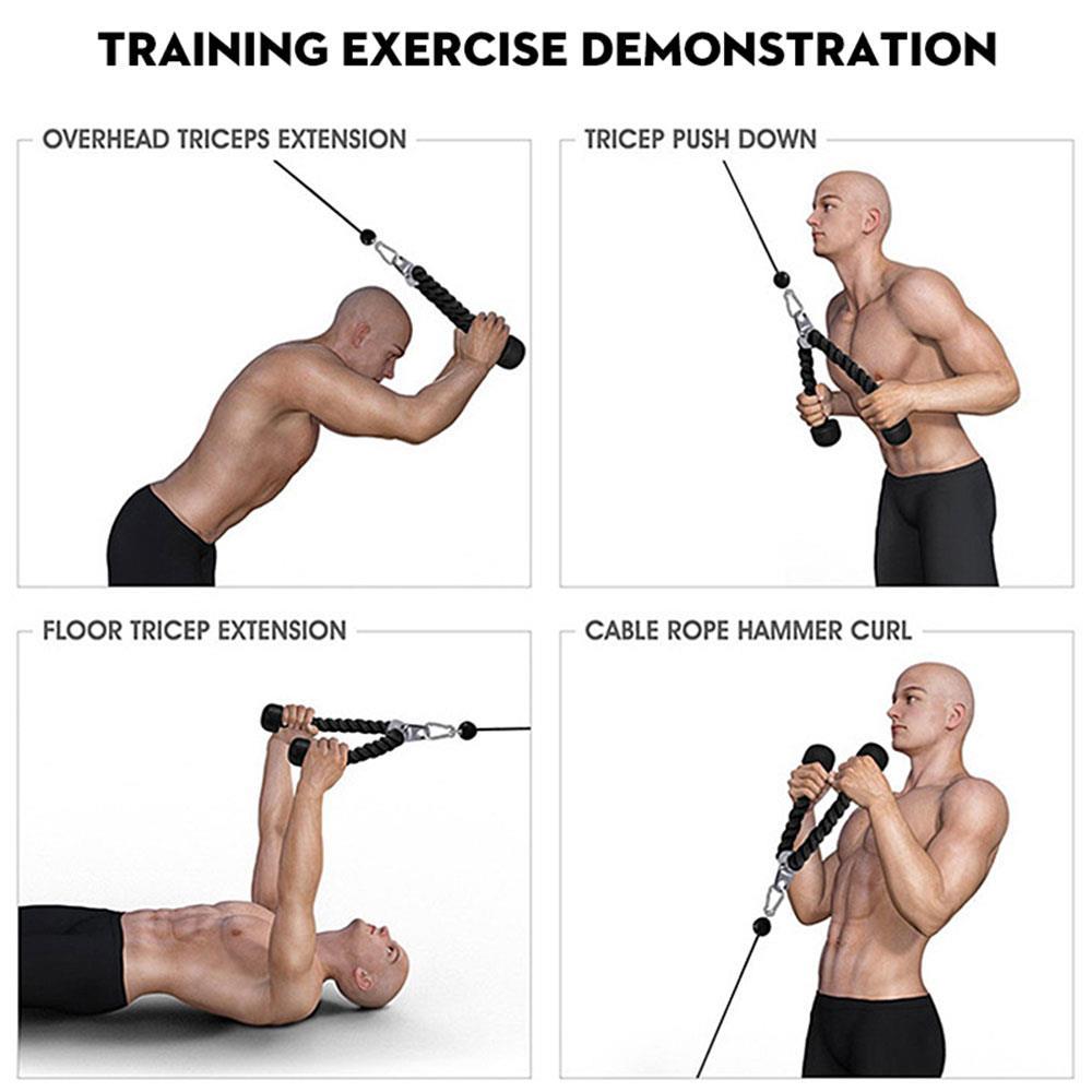 Triceps Rope Fitness Equipment Nylon Drawstring Biceps