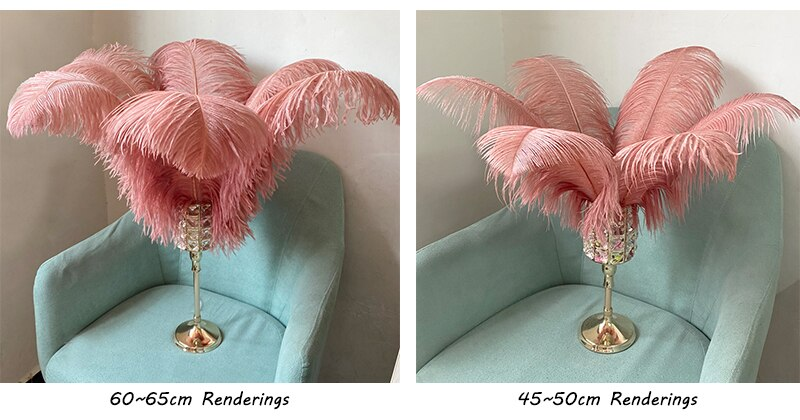 JAROWN Natural Feathers Ostrich Plumes Wedding Party DIY Decoration Feathers Home Crafts Lighting Decorations Carnival Party Halloween Decor (212)